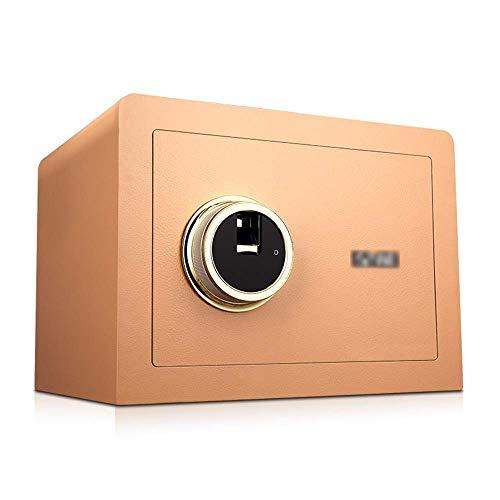 DTDD Caja de Seguridad para gabinete de Seguridad, 3 Barras de Bloqueo Caja de Seguridad para Huellas Dactilares en el hogar Antirrobo a pequeña Escala Caja de Seguridad de Pared de Acero para of