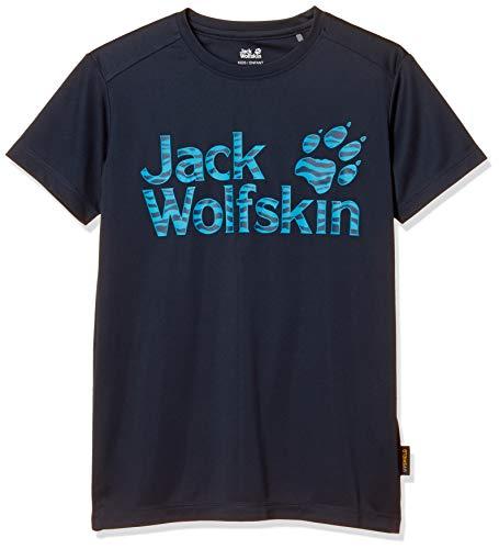 Jack Wolfskin Kinder T-Shirt Jungle T Kids, Night Blue, 140, 1607441-1010140