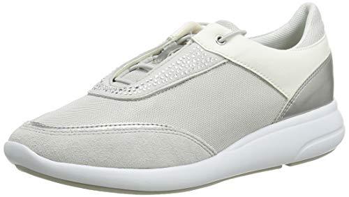 Geox D Ophira C, Zapatillas para Mujer, Plateado (Lt Grey/Silver C1355), 37 EU