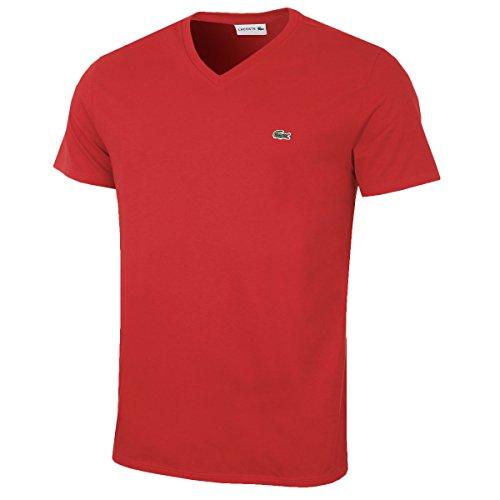 Lacoste Herren TH6710 T-Shirt, Rot (Rouge), X-Small (Herstellergröße: 2)