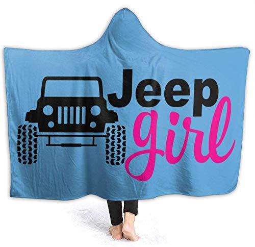 Merryfull Je-ep Girl Hooded Blanket Überwurf Wearable Cuddle Hoodie Robe Spa Schwarz Ultra Soft Blanket Bademantel