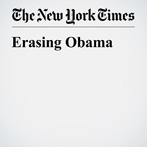 Erasing Obama cover art