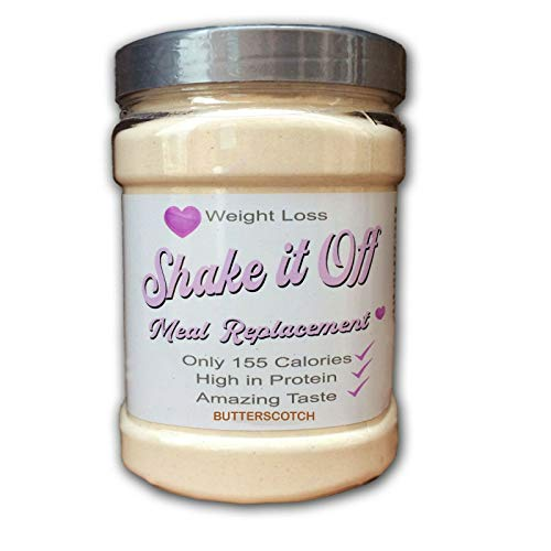 Meal Replacement Diet Shakes whey Protein -only 150 Calories Ideal for Rapid Weight Loss for Men & Women -'SHAKE IT OFF' Plus Free Diet Plan from £1.99-£39.99 (Butterscotch, 28 Shakes)