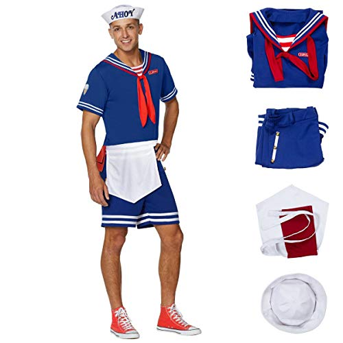 HOMELEX Steve Scoops Ahoy Halloween Costume Stranger Things for Men (Male XL)