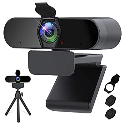 Webcam with Microphone - 1080P HD Streaming USB...