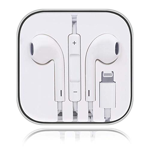 Auricolari per iPhone Auricolari in-Ear Cuffie con filo cablato Forniscono controllo del volume e del microfono compatibile con iPhone 11/11Pro/Max/XS/Max/XR/X/8/Plus/7