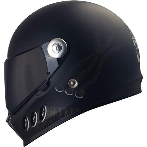 Broken Head Gas Man - Motorrad-Helm Mit Schwarzem Visier - Der Szene Marken-Helm - Größe S (55-56 cm)