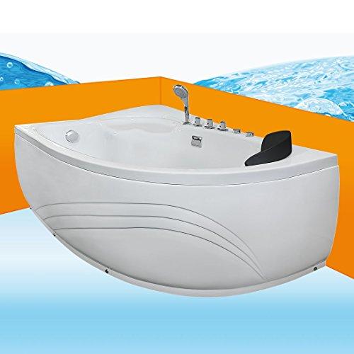 Eckwanne Whirlpool Raumsparwunder Pool Badewanne A617-A-ALL 100x160, Selfclean:ohne +0.-EUR, Sonderfunktion1:Ausstattung A 0.-EUR