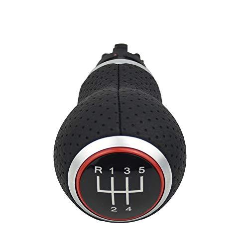 Pomos de palanca de cambios para Au-di A4 B8 S4 8K A5 8T Q5 8R Seat Leon MK1 Ibiza 6J Golf MK4 MK5 Passat B5 B6 Octavia, MT 5 Velocidades Rojo