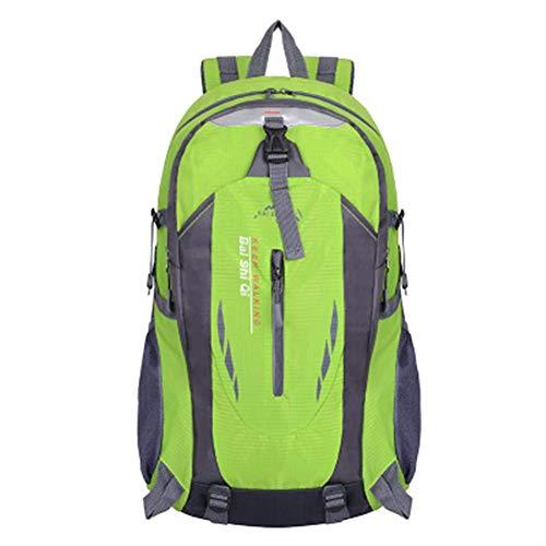 Zaini Yuzhijie Outdoor Mountaineering Bag Men E Casual Travel Zaino Femmina Versione Coreana della Borsa Sportiva di Equitazione, Arancione Zaini (Color : Green)