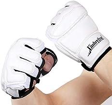 DJLHN Guantes de Boxeo para Adultos con Medio Dedo/Entrenamiento de Sacos de Arena para niños/Guantes Sanda/Karate/Muay Thai/Fitness/Taekwondo Protective Gear - XL