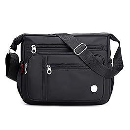 Crossbody Bag for Women Waterproof Nylon Travel Bag Multi Pockets Shoulder Handbags Purse