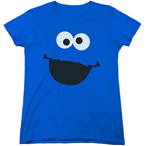 Women's Sesame Street Cookie Monster T Shirt & Stickers (X-Large)