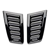 Gagsu Car Hood Vent Scoop Kit, Bonnet Air Vent Modified Accessory, Louvers Cooling Intakes 2Pcs Compatible with Ford Focus RS MK2 Car ABS Decorative, Cold Air Flow Intake Fitment (Black)