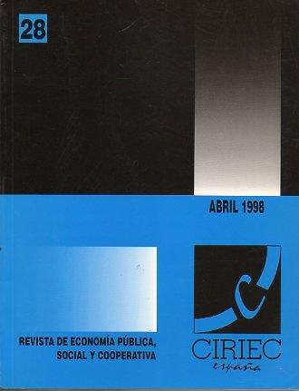REVISTA DE ECONOMÍA PÚBLICA, SOCIAL Y COOPERATIVA. Nº 28.
