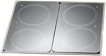 WENKO 2712663100 Universal cover plates Transparent - set of 2, for all types of cookers, Tempered glass, 11.8 x 0.7 x 20.5 inch, Transparent