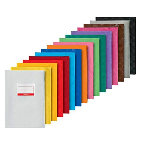16 x Hefthülle Heftumschlag A4 16 Farben blickdicht gedeckt stabil