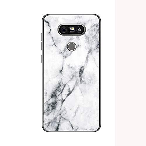 SHIEID Cover per LG G5 Cover,Vetro temperato Marmo Ultra Sottile Gomma Gel Trasparente scocca Anti-Scivolo Soft Shell per Cover per LG G5 (Bianco)