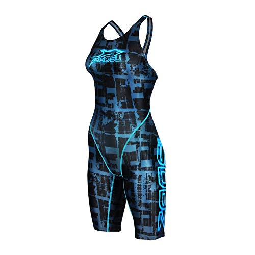 ZAOSU Damen & Mädchen Wettkampf-Schwimmanzug Z-Urban | Competition Sport Badeanzug, Größe:176/36