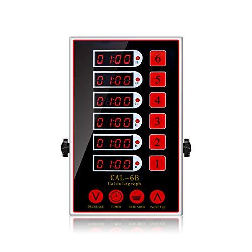 BEAMNOVA 6 Channel Digital Kitchen Timer Cooking Reminder Commercial Loud Ring Alarm Stainless Steel Adjustable Volume
