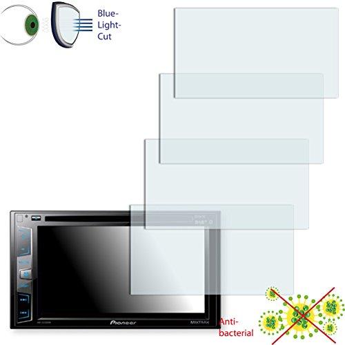 Disagu 4 x ClearScreen Displayschutzfolie für Pioneer AVH-X2700BT Anti-bakteriell, Blue-Light-Cut Schutzfolie