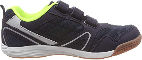 Lico Unisex-Kinder Boulder V Multisport Indoor Schuhe, Blau (Marine/Lemon Marine/Lemon), 32 EU