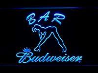 Budweiser Woman's Silhouette Bar LED看板 ネオンサイン ライト 電飾 広告用標識 W30cm x H20cm ブルー
