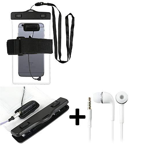 Kompatibel Mit Energizer Power Max P490S Wasserdichte Hülle Mit Kopfhörereinlass + Headset, Transparent Jogging Armband Wasserfeste Handyhülle Beach Bag Outdoor Beutel Schutzhülle Unterwasser Hülle