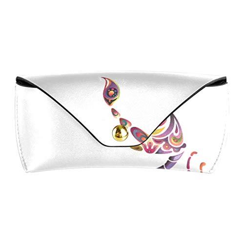 XiangHeFu PU Leder Rainbow Scorpion Tragbare Brillen Beutel Schutzbrille Tasche Mehrzweck Sonnenbrillen Kofferhalter