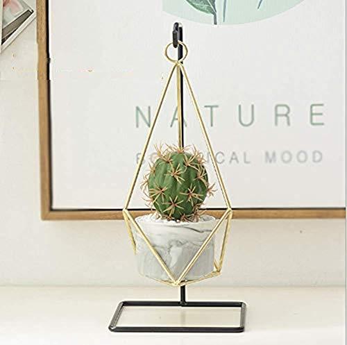 Anan - Supporto per piante in metallo con vaso da appendere, per interni ed esterni, decorazione per la casa (3)