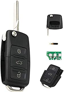 Ersatz Klappschlüssel Schlüsselgehäuse 3 Taste Rohling HAA/HU66 + Platine 433Mhz + Transponder ID48 Chiavi 1K0 959 753 G Autoschlüssel Schlüssel Fernbedienung   INION