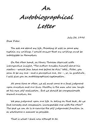 An Autobiographical Letter