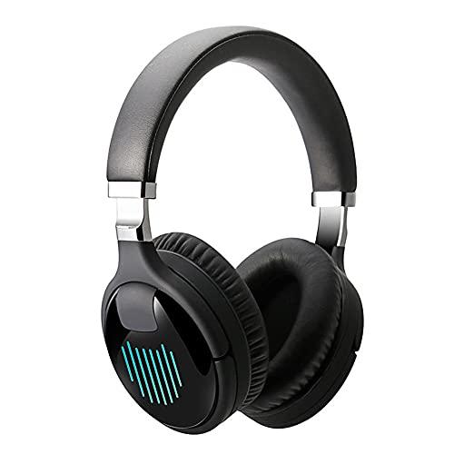 POTIKA TM-061 Fone De Ouvido Bluetooth Sem Fio 5.0 Virtual 7.1 Som Estéreo, Fone De Ouvido RGB Colorido Com Microfone De Redução De Ruído, Fones De Ouvido Para Pc/mobile Phones/ps4, Preto
