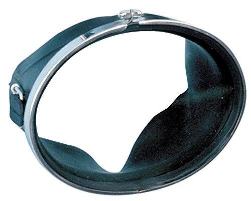 Sommap - Maske Oval aus Gummi ohne Kompensator Kreis Edelstahl Schraubverschluss