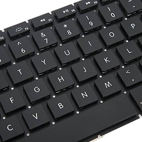 Wosune Teclado para computadora portátil, Parte Lisa para computadora portátil, Negro Estable, práctico y Firme para computadora portátil