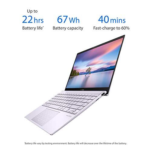 "Product Image 7: ASUS ZenBook 13 Ultra-Slim Laptop 13.3"" Full HD NanoEdge Bezel Display, Intel Core i5-1035G1 Processor, 8GB RAM, 256GB PCIe SSD, NumberPad, Windows 10 Home, Lilac Mist, UX325JA-AB51"