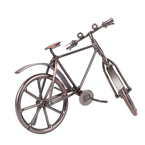 VOSAREA Fahrrad Modell Vintage Fahrrad Wohnkultur Mini Miniatur Desktop Handwerk Fahrrad Figuren Geschenke für Kinder Spielzeug Handgemachte Kunstwerk Büro Sammlung