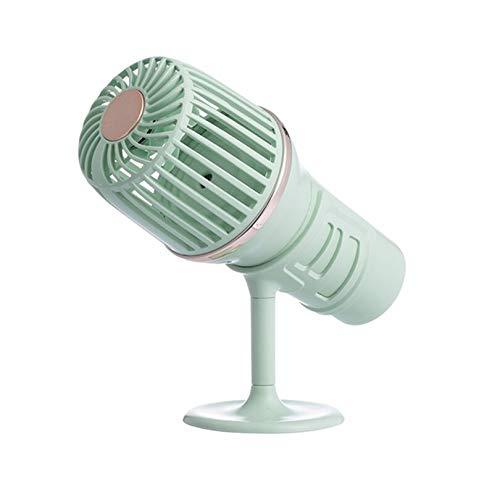 Mini FansHaking Head Mini Fan Desktop USB Carga de Verano Refrigerador de Verano Ventilador de Mano Escritorio Recargable Fans Gugankamaoyidailiyouxiangongsi (Color : Green)