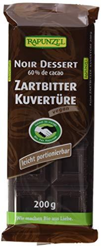 Rapunzel Zartbitter Kuvertüre HIH, 4er Pack (4 x 200 g) - Bio