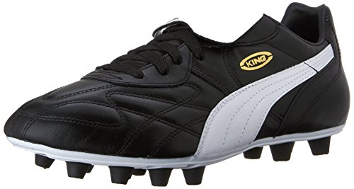 PUMA Men's King Top DI FG Soccer-Shoes, Black-White-Team...
