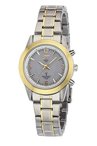ETT Eco Tech Time Funk Solar Damen Uhr Analog mit Edelstahl Armband ELS-11266-11M