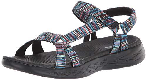 Skechers O-T-G Womens Sandals ON-The-GO 600 Electric Sandalen Women Schwarz, Schuhgröße:40 EU