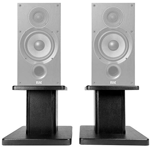 "Buy Discount (2) 8"" Black Bookshelf Speaker Stands for ELAC Debut 2.0 B6.2 Bookshelf Speakers"
