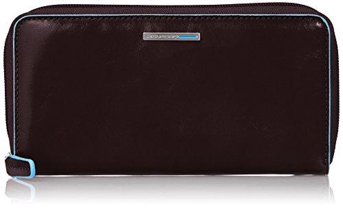 Piquadro PD3229B2/MO Blue Square Portafoglio, Mogano, 18 cm