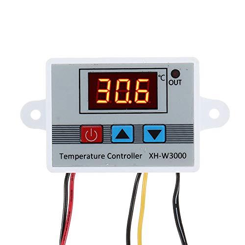 YINCHIE MUKUAI20 XH-W3000 Micro Termostato Digital Alturas Precisión Control de Temperatura Interruptor Calefacción y Refrigeración Precisión 0.1 DIY (Color: DC12V)