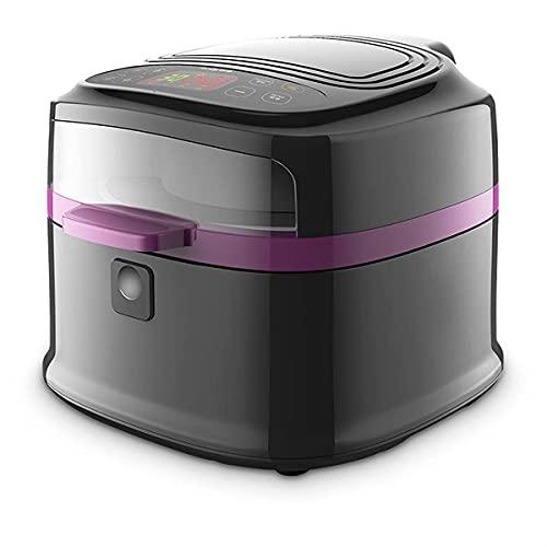 Heißluftfritteuse für den Heimgebrauch 8L Multifunktionale Heißluftfritteuse Antihaft-Kocher 1200W Einstellbare Temperaturregelung & Timer Heißluftfritteuse für Haushalt & Küche
