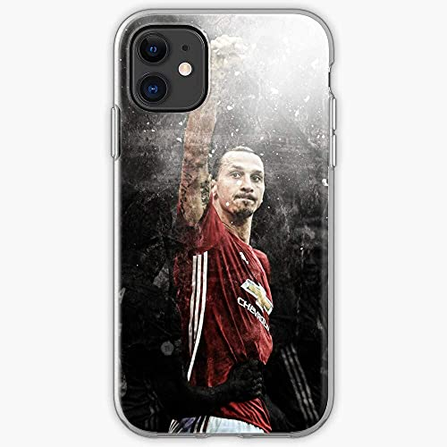 Compatibile con iPhone 12/11 Pro Max 12 mini SE X/XS Max XR 8 7 6 6s Plus Custodie Custodies Ibrahimovic Zlatan Manchester United Soccer Soocer Pure Clear Custodie per Telefoni Cover