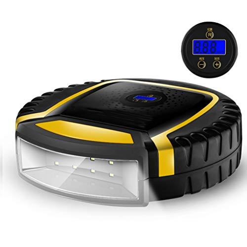 GSS-Table Digitale luchtcompressor, draadloos, comfortabele luchtpomp, metalen cilinder, permanente magneetmotor, meetbandenspanning nachtverlichting
