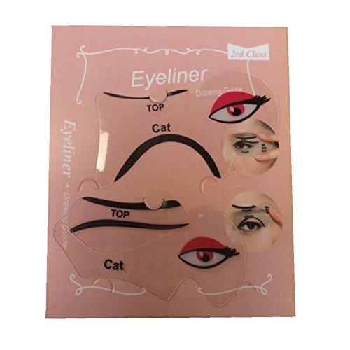 Set de 2 plantillas para eyeliner de Justfox
