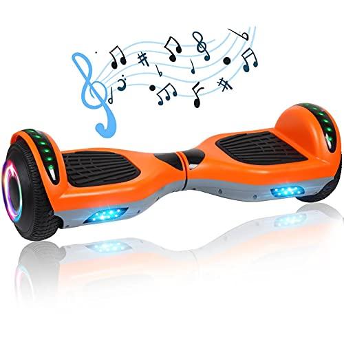 Felimoda Hoverboard with Bluetooth Speaker & LED...